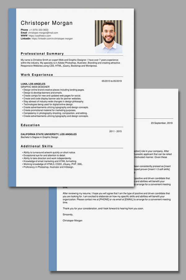 resume and cover letter - the best free creator online